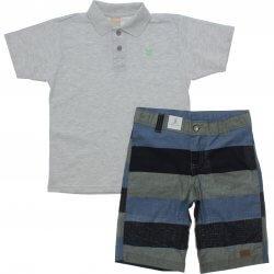 Conjunto Infantil Menino Colorittá Polo Lisa Bermuda Listrada 31653