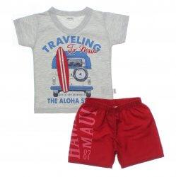 Conjunto Infantil Menino Elian Camiseta Traveling Kombi 31474