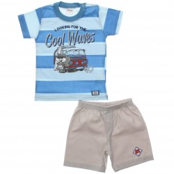 Conjunto Infantil Menino Elian Listras Cool Waves 30793