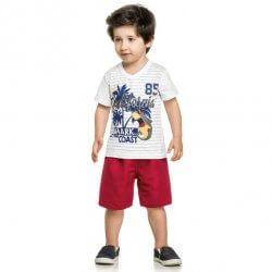 Conjunto Infantil Menino Elian Listras Shark Coast 31641