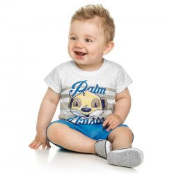 Conjunto Infantil Menino Elian Listras Suricate Palm 31639
