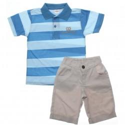 Conjunto Infantil Menino Elian Polo Listrada Summer 30610