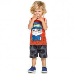 Conjunto Infantil Menino Elian Regata Fun Safari 31642
