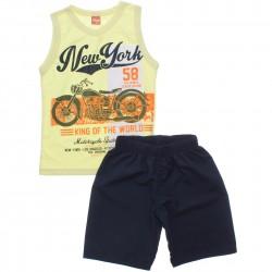 Conjunto Infantil Menino Elian Regata New York Moto 30821