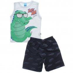 Conjunto Infantil Menino Livy Alligator Bermuda Estampada 31775