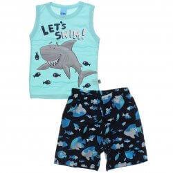 Conjunto Infantil Menino Livy Lets Swim Tubarão 31774