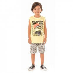 Conjunto Infantil Menino Livy Regata Jacaré Wanted 31812