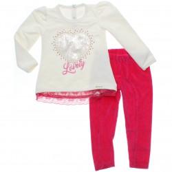 Conjunto Infantil Paraíso Menina Calça e Blusa Coração 31139