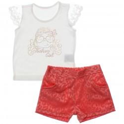 Conjunto Infantil Paraíso Menina Fashion Girl Renda 30305