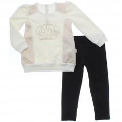 Conjunto Infantil Paraíso Menina Legging e Blusa Coroa Strass 31138