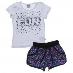 Conjunto Infantil Rovitex Menina Fun Shorts Estampado 31621