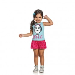Conjunto Infantil Snoopy Menina Regata Belle 30084