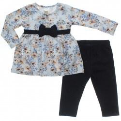 Conjunto Inverno Pulla Bulla Bebê Menina Floral Laço Cintura 31244
