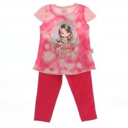 Conjunto Jolie Infantil Blusa Estampada e Legging Lisa 28572