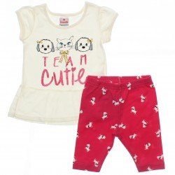 Conjunto Legging Brandili Bebê Menina Team Cutie 29955