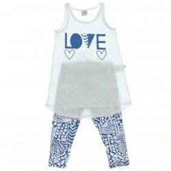 Conjunto Legging Brandili Infantil Menina Mini Vest Love