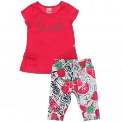 Conjunto Legging Brandili Infantil Menina Suret Laço 30436