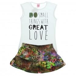 Conjunto Magic Girls Saia-Shorts Estampa Do Small 29224