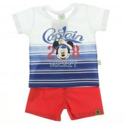 Conjunto Mickey Disney Beb� Estampa Capitain 28640