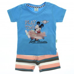Conjunto Mickey Disney Beb� Menino Play Time Decote V
