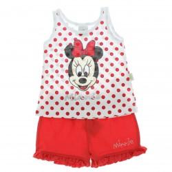 Conjunto Minnie Disney Beb� Menina Poa e Shorts Babado