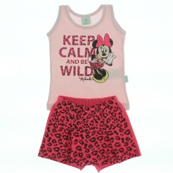 Conjunto Minnie Disney Beb� Menina Short Saia Oncinha
