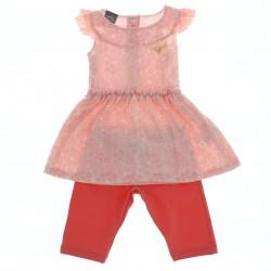 Conjunto Mundi Infantil Menina Mini Vest Renda Legging Lisa