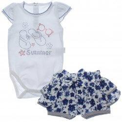 Conjunto Paraíso Bebê Menina Body Chinelo Strass 31666