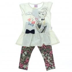 Conjunto Princesas Disney Infantil Menina Cinderella Legg
