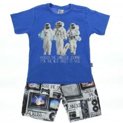 Conjunto Pulla Bulla Infantil Menino Estampa Astronauta 2921