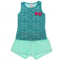 Conjunto Shorts Alakazoo Menina Estampa Aolique Laço 28812