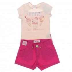 Conjunto Shorts Alakazoo Menina Estampa Summer Sorvete 28821