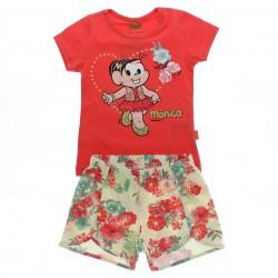 Conjunto Turma da M�nica Infantil Shorts Estampado 28576