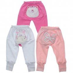 Culote Kit Petutinha Bebê Menina c/3 Animais no Bumbum 31421