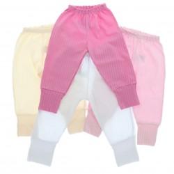 Culote Kit Petutinha Bebê Menina c/3 Básico Liso 29118