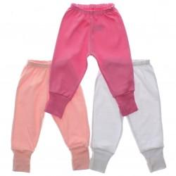 Culote Kit Petutinha Bebê Menina c/3 Básico Liso 29389