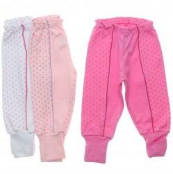 Culote Kit Petutinha Bebê Menina c/3 Faixa Poa 30849