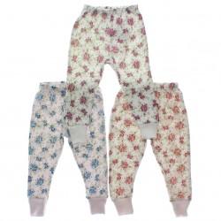 Culote Kit Petutinha Bebê Menina c/3 Sem Pé Floral 29394