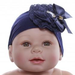 Faixa Paraíso Bebê Meia Calça Fuxico Laço Pérolas 30360