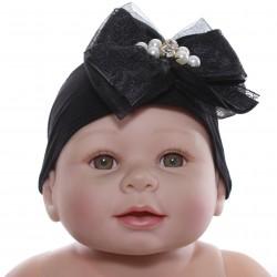 Faixa Paraíso Bebê Meia Calça Laço e Renda Tule 30361