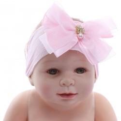 Faixa Paraíso Bebê Meia Calça Laço Fios Prata 31190