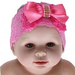 Faixa Paraíso Bebê Renda Aplique Laço Strass 31701