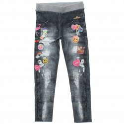 Legging Infantil Coloritta Jeans Estampa Sublimada 4 a 14 31089