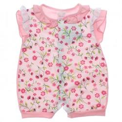 Macac�o Curto Infant Baby Menina Babado Lesie 30498