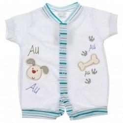 Macacão Curto Infant Baby Menino Cachorro Osso 30496