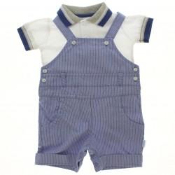Macacão Curto Paraiso Bebê Polo e Jardineira 28740
