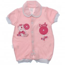 Macacão Curto Petutinha Menina Ursa Pirulito Candy 31852
