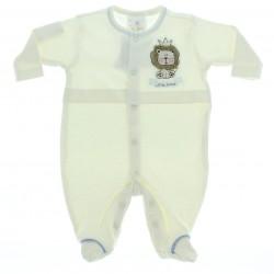 Macac�o Longo Baby Fashion Menino Suedine Bordado Le�o 28545