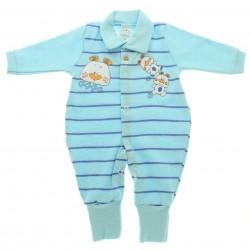 Macacão Longo Petutinha Bebê Menino Suedine Listras 28658