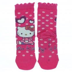 Meia Soquete Hello Kitty Estampada- 22694